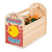 Postinho De Carrinhos-Newart-Brinquedo Educativo Em Madeira