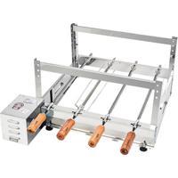 Churrasqueira Rotativa Kit Arke Inox 4 Espetos - Gbi-04