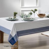 Toalha De Mesa Chamonix - Branca & Azul Escuro - 350Sultan