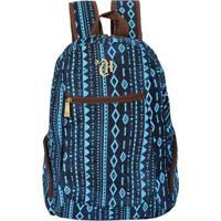 Mochila Juvenil Etnic Blue Ii, Azul, P - 48908 - Dmw