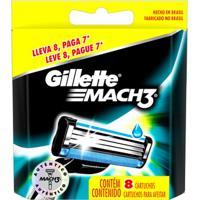 Carga Gillette Mach 3 Regular - 8 Unidades - Unissex
