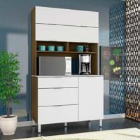 Cozinha Compacta Colúmbia 3 Pt 3 Gv Rustik E Branca