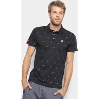 Camisa Polo Element Colter Masculina - Masculino-Preto