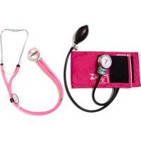 Aparelho De Pressão Rosa Com Esteto Rappaport Rosa Cjpa206 Pa Med