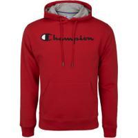 Blusão Com Capuz Champion Cap Graphic - Masculino - Vermelho