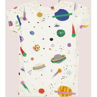 Amaro Feminino Mooui Conjunto Pijama Infantil, Cosmos