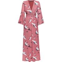 Vestido Crepe Listras Kyoto