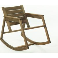 Cadeira De Balanço - Poltrona Para Varanda Janis Stain Nogueira - 60X92X80 Cm