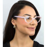 Óculos De Grau Valentino Rosa Acetato Gateado - 0Va3061 5179 54