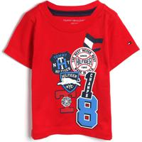 Camiseta Tommy Hilfiger Kids Menino Frontal Vermelha