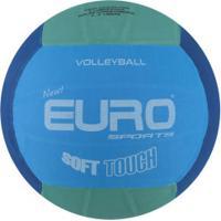 Bola De Vôlei Euro New Soft Touch - Azul/Verde