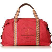 Bolsa Blue Bags Weekend Reciclada Bordado Fogo Feminina - Feminino-Vermelho