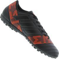 Chuteira Society Adidas Nemeziz 17.4 Tf - Adulto - Preto efd96a4e26fba