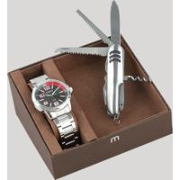 576194f9c2d CEA  Kit De Relógio Analógico Mondaine Masculino + Canivete -  99324G0Mgne1Ka Prateado - Único