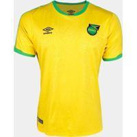 Camisa Seleção Jamaica Home 18/19 S/Nº Torcedor Umbro Masculina - Masculino