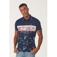 Camisa Polo Ecko Especial Azul Marinho