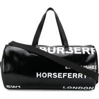 Burberry Mala Com Estampa Horseferry - Preto