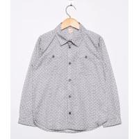 Camisa Infantil Cinza - Green - 4A/Y