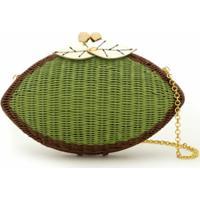 Serpui Bolsa Clutch De Vime - Verde