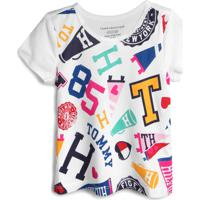 Camiseta Tommy Hilfiger Kids Menino Estampa Branca