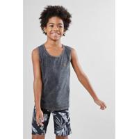 Camiseta Infantil Regata Listra Reserva Mini Masculina - Masculino-Chumbo