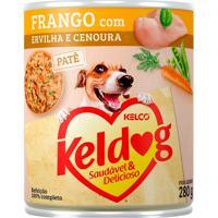 Ração Para Cães Keldog Frango Com Ervilha E Cenoura Lata 280G
