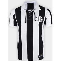 Camisa Retrô Atlético Mineiro 1914 Retrô Mania Masculina - Masculino-Preto+Branco