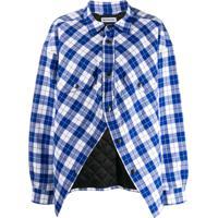 Balenciaga Camisa Xadrez - Azul