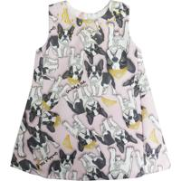 Vestido Gira Baby Kids Infantil Dog Rosa