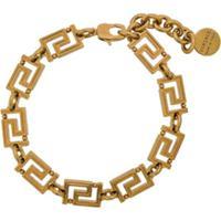 Versace Pulseira Com Logo - Dourado