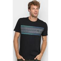 Camiseta Hd Long Stripe Masculina - Masculino-Preto