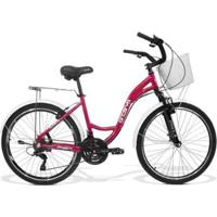 Bicicleta Feminina Gts M1 Walk Urbano Aro 26 Câmbio Shimano 21 Marchas E Freio V-Brake - Unissex