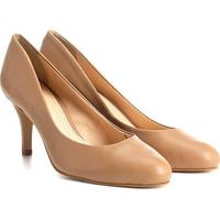 Scarpin Couro Shoestock Salto Médio Básico - Feminino-Rosa Claro