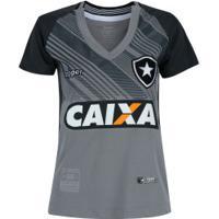 Camisa De Goleiro Do Botafogo Ii 2018 Topper - Feminina - Cinza