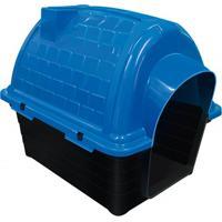 Casinha Plástica Para Pets Iglu 52X48Cm Azul