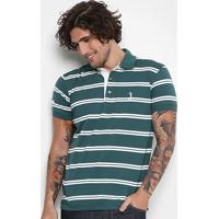 4d95c42333 ... Camisa Polo Aleatory Malha Fio Tinto Masculina - Masculino-Verde+Branco