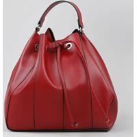 321e5fcb7e Bolsa Bucket Feminina Grande Com Alça Transversal Vermelha - Único