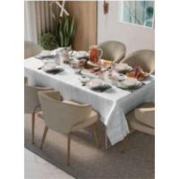 Toalha De Mesa Teka Jacquard Champanhe Ros㪠(8 Lugares) - Branco - Branco/Multicolorido - Dafiti