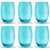 Conjunto De Copos Bellagio Azul 450Ml - Com 6 Peças - Casa Linda