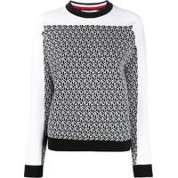 Tommy Hilfiger Suéter Com Padronagem - Preto