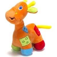 Chocalho De Pelucia Unik Toys Girafa Laranja