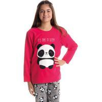 Pijama Panda Feminino Infantil