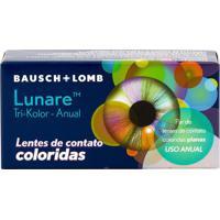 Lente De Contato Lunare Tri-Kolor Anual Com Grau Green / Verde -2,75 Green/Verde