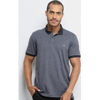 Camisa Polo Burn Basic Masculina - Masculino-Mescla Escuro