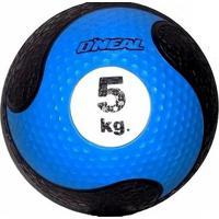 Bola Medicine Ball O''Neal 5Kg - Unissex-Azul