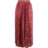 Andamane Becky Floral-Print Skirt - Vermelho