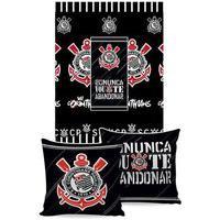 Manta Almofada Jolitex Corinthians