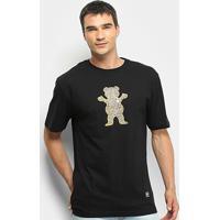 Camiseta Grizzly Biebel Pro Bear Masculina - Masculino-Preto