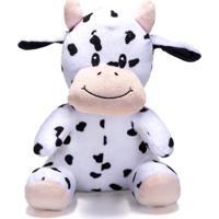 Bicho De Pelúcia Unik Toys 25 Cm Vaca Branca E Preta - Kanui