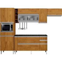 Cozinha Compacta Ébano 9 Pt 4 Gv Caramelo